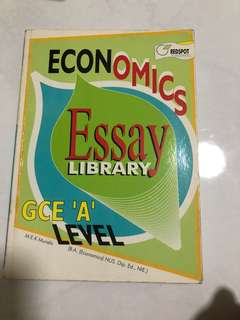 Economics Essays A Levels