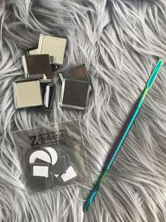 Z Palette pans and spatula