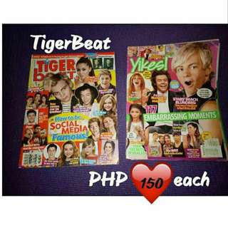 Tigerbeat and Yikes Celebrity Magazine Ariana Grande, Taylor Swift, 5SOS, Ross Lynch