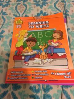 Educational kids learning books