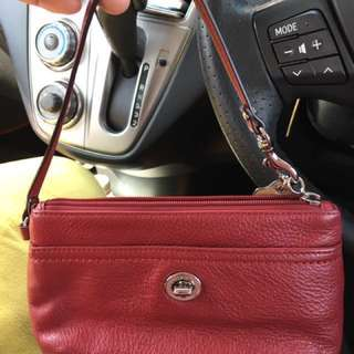 Coach Wristlet (Fully leather)