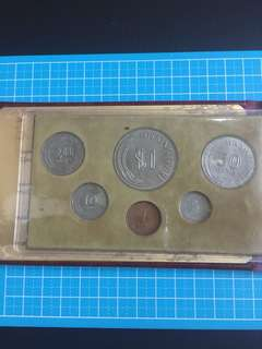 Singapore Wallet Coin Set Year 1976 unc