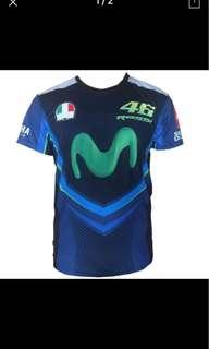 2018 New fashion off-road Locomotive Riding T-shirts Motorcycle MOTO GP Racing t-shirts vr46 Sports AGV loose short-sleeved Blue
