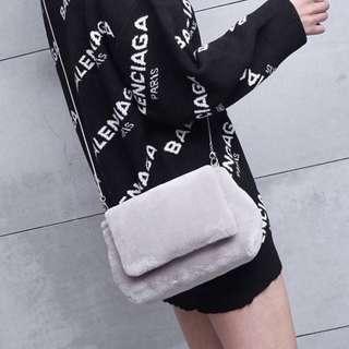 (3 Colours) Premium Fluffy Furry Sling Bag