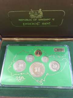 Singapore Proof Coin Set Year 1976 UNC