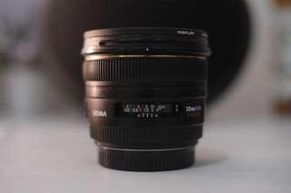 Sigma 50mm 1.4 canon mount
