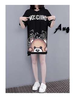 Moschino hoodie shirt dress