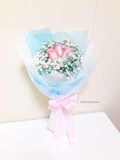 Fresh Flower 🌼🌸 3 Pink Roses