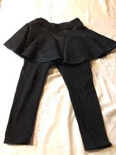 女童裝內刷毛褲裙(超好看)100cm