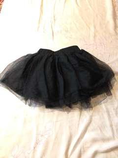 女童膨膨裙 (黑)100cm
