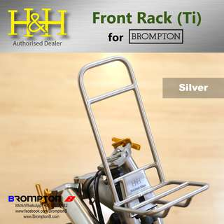 H&H Titanium Front Rack (Silver) for Brompton