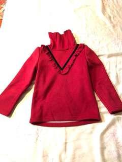 女童刷毛上衣100cm