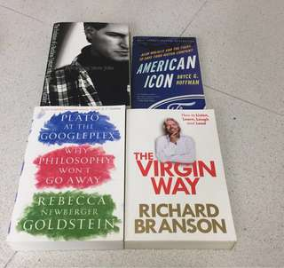 Assorted books - Richard Branson, Google, Ford