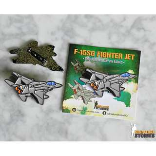 F-15SG Fighter Plane Aircraft Pin Badge - Miniature Stories