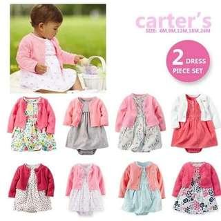Carters cardigan dress set