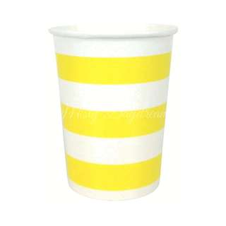 Classic Stripe Cups Value Pack (Set Of 12) – Yellow