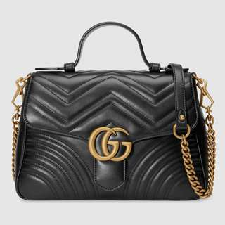Gucci GG Marmont Small Top Handle Bag (New/Authentic)
