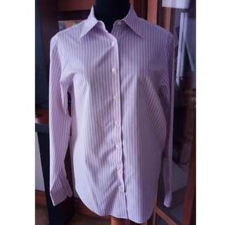 Original Brooks Brothers Lavender and White Striped Polo