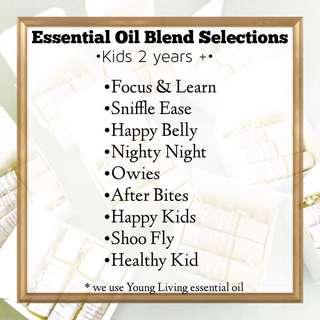 Essential Oil Roller Blends - Kids 2 years +