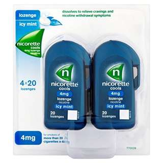 Nicorette Cools Lozenge Mint 4mg 80 [Health and Beauty]