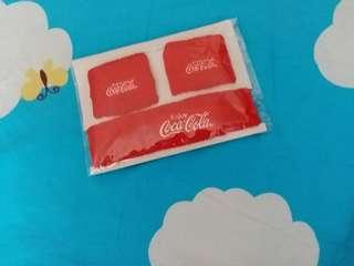 可口可樂  頭帶及一对護手腕 ,運動用品,(珍藏纪念品)