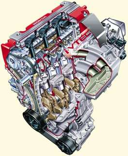 Honda Type R K20 engine setup