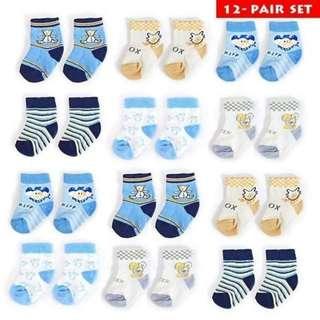 12in1 baby socks set