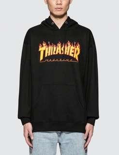 TRASHER flame hoodie