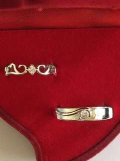 Express ur love 💖 Silver Couple Rings
