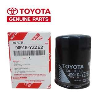 Toyota Genuine Oil Filter 90915-YZZE2 - Innova / Estima / Wellfire / Alphard / Altis / Corolla