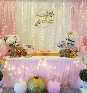 Sweet Pink Backdrop Set up