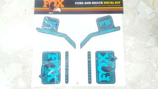 Fox Fork rear shox turquoise heritage decals