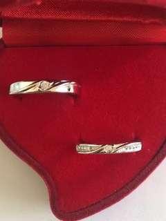 Men & Women Silver Couple Rings