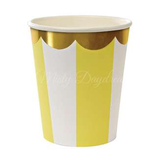 Stripe Cups (Set of 8) – Yellow