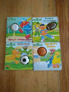 Sesame Street Sports Squeakers 4 books