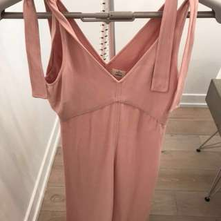 Wilfred pink tie dress - aritzia