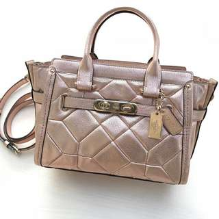 COACH SWAGGER PATCHWORK 27 ROSEGOLD