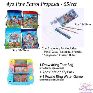 Party Packs - Paw Patrol and other themes available