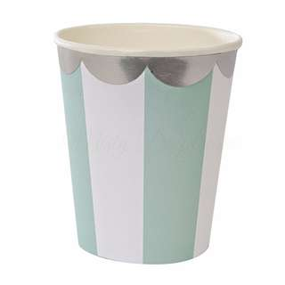 Stripe Cups (Set Of 8) – Mint