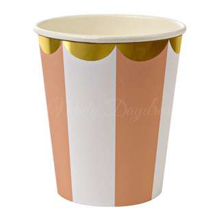 Stripe Cups (Set Of 8) – Orange