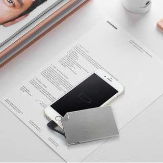 超迷你 (4mm厚) 石墨烯 充電寶 便攜 超薄超小卡片 蘋果 通用