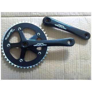 KEPU Cranksets Single Speed Fixed Gear (46T) for Fixies / Bicycles