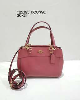 COACH SMALL BROOKE CARRYALL 27-34x23CM ROUGE