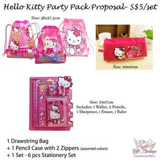 Party Packs - Hello kitty and more themes
