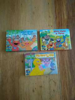 Sesame Street Pop Up Places 3 books