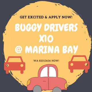 PART-TIME BUGGY DRIVER @ MARINA BAY // $8.50/HOUR // CLASS 3/3A/4 LICENSE
