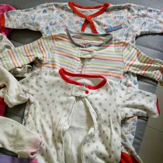 Baby Sleepsuits 0-3 mths
