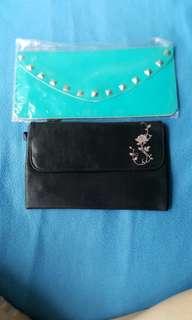 精美 Wallets 及kate moss 化妝袋手挽袋共兩個