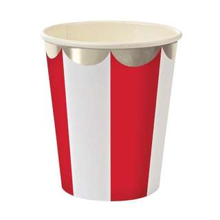 Stripe Cups (Set of 8) – Red