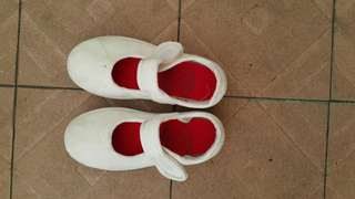 White Canvas School Shoe for Girl (Size 27)